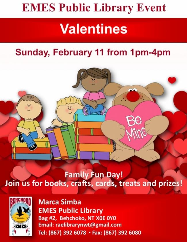 Emes Family Literacy Day Valentines Tlicho