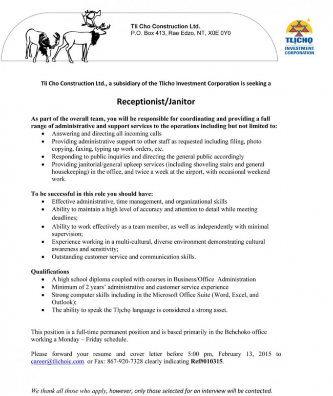 janitorial resume