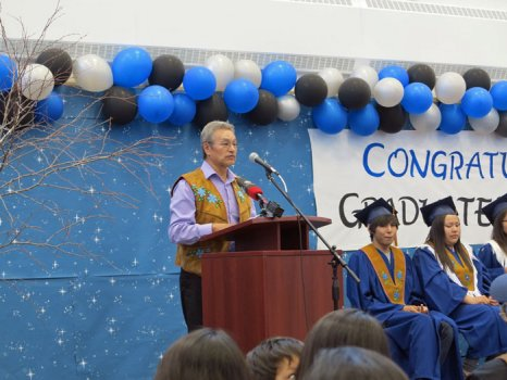 Grand Chief Eddie Erasmus speech to the first high school graduates from Jean Wetrade Gamètì School.  Wednesday, June 26, 2013