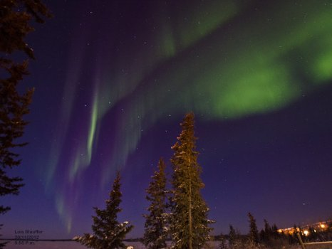 Northern Lights photo by Lois Stauffer