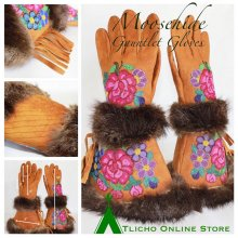 Moosehide Gauntlet Gloves